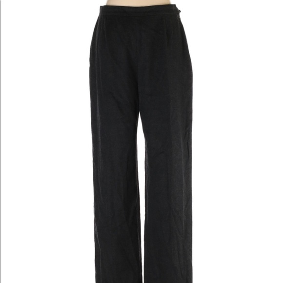 MaxMara Designer Dark Gray Wool Pants 10